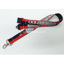 Mobile Phone /Whistle Dye Sublimation Lanyards