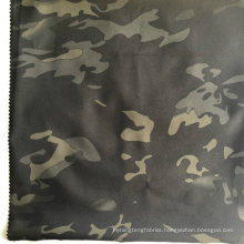 100d High Stretch Polyester Pongee Fabric with Transfer Printing and Milky Membrane Bonded
