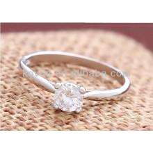 Anel de diamante de noiva de Dubai feito com prata esterlina 925
