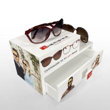 APEX Custom White Eyewear Case Caixa de exposição de óculos de sol
