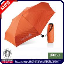 Venta caliente súper mini promoción 5 paraguas plegable bolsa