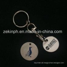 Soft Emaille Trolley Münze Schlüsselbund / Werbegeschenk
