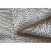 Tecidos brancos de costura de ponto de casa