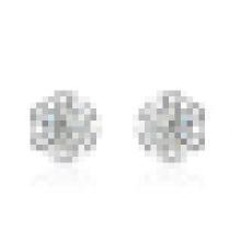 Women′s 925 Sterling Silver Snowflake-Shaped crystal Earrings