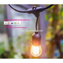 LST-181 Lichterketten mit klaren Birnen, UL-gelisteten Hinterhof-Patio-Lichter, hängenden Innen- / im Freienketten-Licht