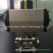 Thread Three Way Ball Valve with Pneumatic Actuator and Accesories