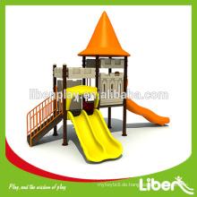 Neues Design Outdoor Spielhäuser mit Slides für Kinder LE.CB.012