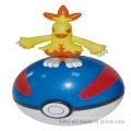 Hot-Venda Cartoon Arte-Trabalho Silicone Moda Rodada PVC Ball Toy Animal Plástico