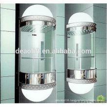 Luxury cabin panoramic elevator with machine room