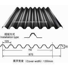 Black Color Galvanized Corrugated Steel Roofing Sheet