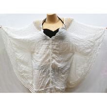 Summer Beachwear Encaje Blanco Crochet Beach Caftan