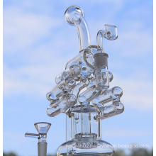 10 Inch Lattice Recycler Glass Water Pipe