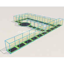 Inground Trampoline Play Park para interior