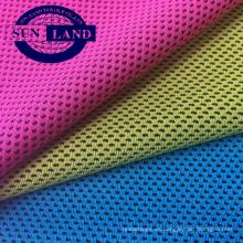 Tejido de malla 100% poliéster para uniforme de ropa deportiva de verano