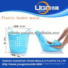 Molde de la canasta de la cesta de plástico molde de inyección en taizhou zhejiang china