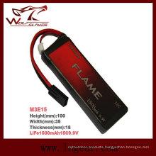 Flame 1500mAh 9.9V15c LiFePO4 LFP Plus Battery