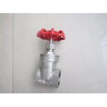 Válvula de compuerta de rosca hembra de acero Stainles en 200wog (Z15)