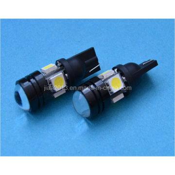 Lente do projetor LED W5w 12V T10 LED lâmpada automotiva