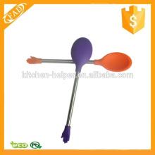 Практичная силиконовая ложка для кухни