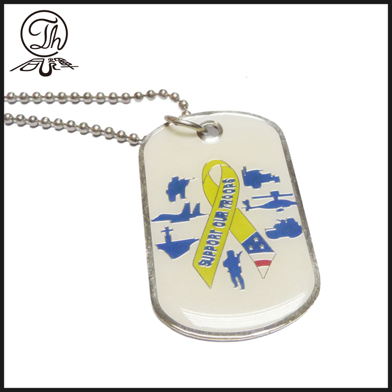 Designer dog tags metal for people