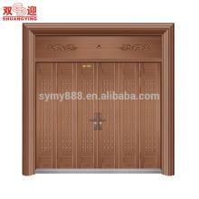 conception de porte principale de sécurité de porte d'entrée d'acier inoxydable de luxe pour la maison