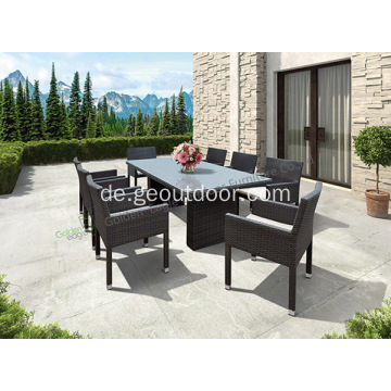9-teiliges Weidenpatio im Freien Patio Dining Set