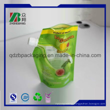 Customized Printing Plastic Spout Pouch Wine Packaging Nozzle Handle Bag (ZB388)