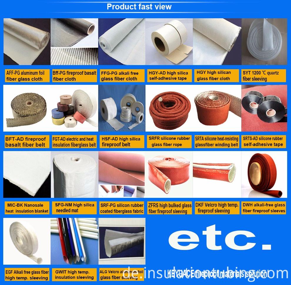 Hochtemperaturbeständiges hohes Silica-Glasfaser-Tuch China-Hersteller