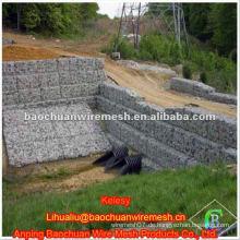 Silber feuerverzinkter Stein Käfig Netz mit hoher Qualität im Speicher