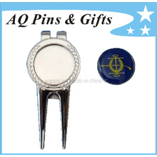 Silver Golf Divot Tool with Ball Marker (Golf-15)