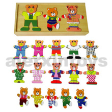 Wooden Dress up Toy (3 bears) (80038)
