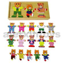 Juguete de vestir de madera (3 osos) (80038)