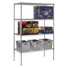 DIY Chrome Heavy Duty Grocery Bin Steel Wire Storage Shelf (CJ12045180A4C)