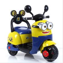 Motocyclette électrique Contral à minions 12V mignon pour les enfants
