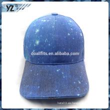 Gorra de béisbol de encargo de la alta calidad LED de la galaxia con precio bajo