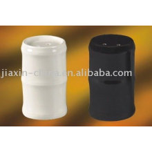 forma de bambú juego de sal y pimienta de cerámica JX-80AB