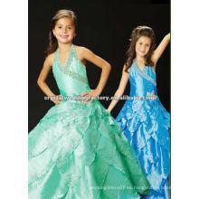 2013 halter rebordeó el vestido de bola por encargo azul escalonado los vestidos jubilados del desfile de las muchachas CWFaf4670