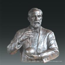 Große Figur Statue Chemiker Louis Pasteur Bronze Skulptur Tpls-081