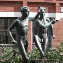 бронза литейная современный сад высокое качество бронзовый обнаженный мальчик статуя