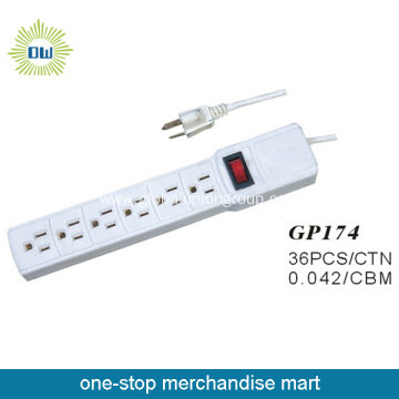 6  Way Socket Power Outlet 3X1.0Mm2  0.9M