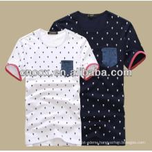 2014 latest Men new design cotton printing t-shirts