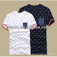 2014 mais recente Homens novos design de algodão impressão t-shirts