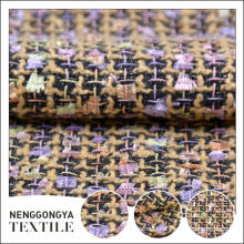 Usine de la Chine Différents types de textile tissé de tissu de chenille de mode