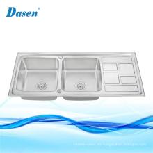 fregaderos de cocina fregadero compuesto de porcelana blanca debajo del fregadero de la cocina