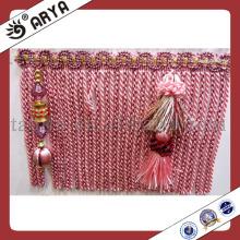Franja de lujo de la franja de la franja de la franja que recorta con los granos Colgantes para la tapicería de la cortina Valances Mosquito Net