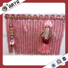 Luxury Bullion Fringe Curtain Fringe Trimming With Beads Pendants For Curtain Tapestry Valances Mosquito Net