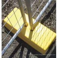 Portable Quality Temporary Fence Plastic Feet