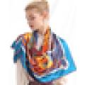 China atacado de design de marca própria cachecol 2015 lenço de seda barato lenço de impressão de tela