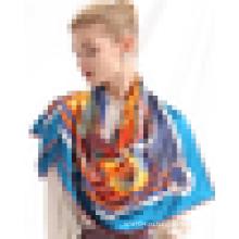 Китай оптом собственный дизайн бренда шарф 2015 шелк дешевые шарф экран печати шарф