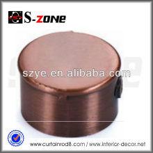 3/4 'cobre antigo cortina haste extremidades, tampas de extremidade para tubo de cobre